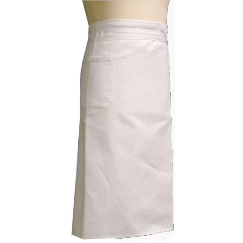 promoción delantal bistro de algodón col blanco